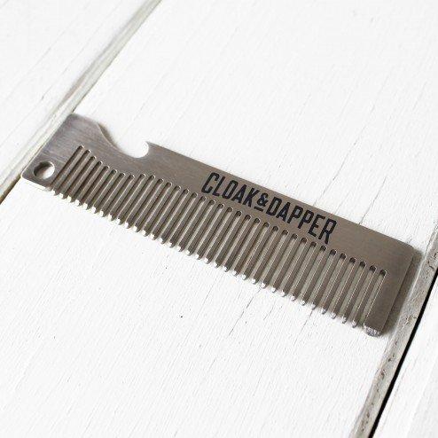 Cloak & Dapper -  stainless steel bottle opener comb
