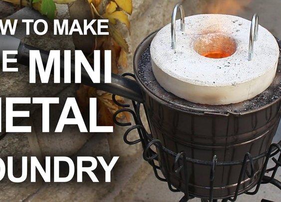 How To Make The Mini Metal Foundry - YouTube