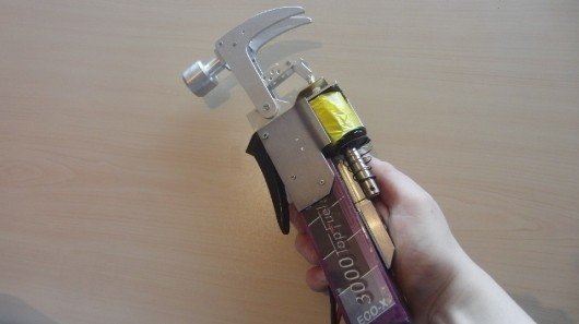Hobbyist builds working replica of Homer Simpson's electric hammer