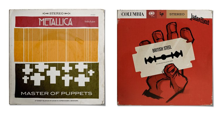 Classic Metal Albums Redesigned As 1950s Jazz Records