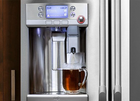 GE Cafe Refrigerator with Built-In Keurig K-Cup Brewer
