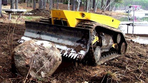 Robot Bulldozer  - YouTube