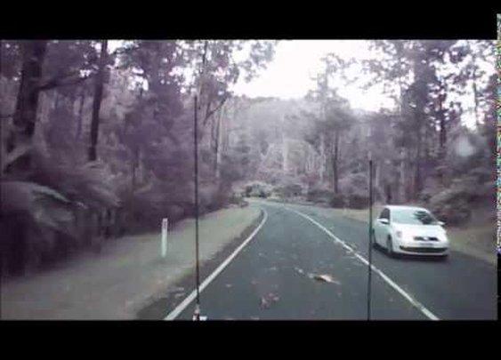 Driving through an Australian Wind Storm