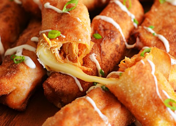 Buffalo Chicken Mozzarella Logs - Host The Toast