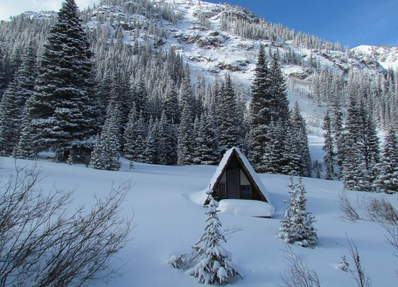 A-Frame at 10,000 Feet, Outside the Ghost Town of Saints John, CO