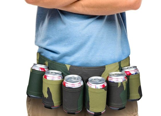 The Camouflage Beer Belt - 6-Pack Can Holster - Whimsical & Unique Gift Ideas for the Coolest Gift Givers
