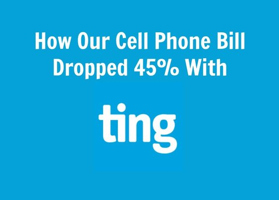 How Our Cell Phone Bill Dropped 45% With Ting Mobile