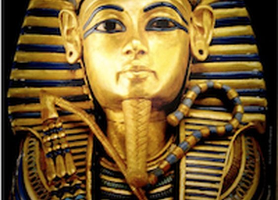 King Tut's mask crappily repaired with epoxy