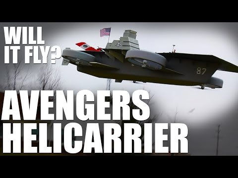 Hobbyists Create a Model of the Helicarrier Aircraft Carrier from 'The Avengers' to Determine If It Will Fly