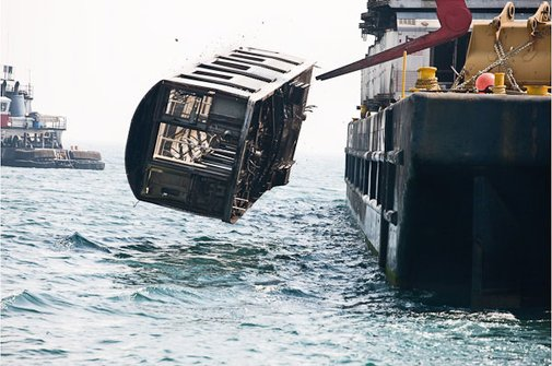 Subways Dumped In The Ocean   This is Fly Daily