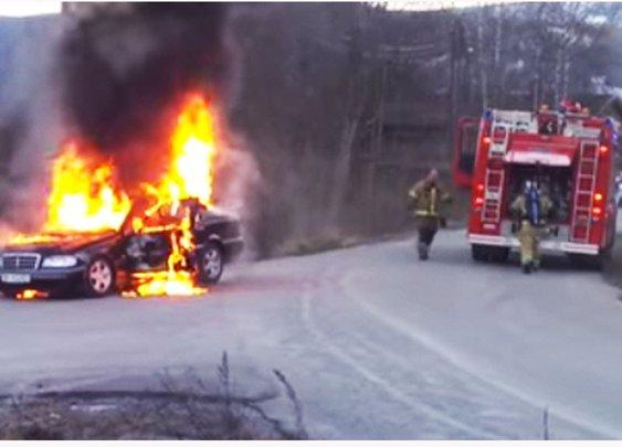 Firefighter Fail | Car On Fire Wreaks Havoc - YouTube