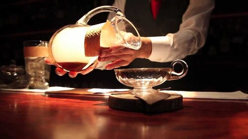 World-Class Bartender Taktumi Watanabe Gracefully Crafts a Gorgeous 'Smoked Rum Martinez'