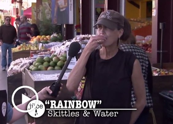 Jimmy Kimmel Gives People 'Cold-Pressed Juice' Made From Skittles