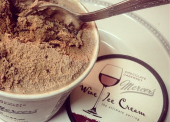 Wine Infused Ice Cream. Maybe something that is more for your wife, but it's pretty awesome nonetheless.
