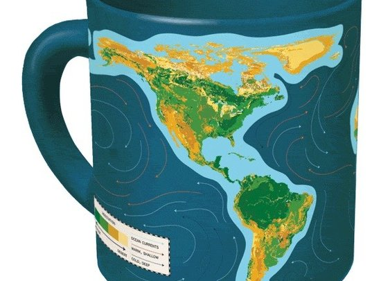 Climate Change Mug - Ceramic Coffee Mug Changes when you Add Hot Liquid by UPG - Whimsical & Unique Gift Ideas for the Coolest Gift Givers