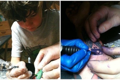 This Dad Has Been Covering His Arm In Tattoos Of His Son's Doodles And The Result Is Gorgeous