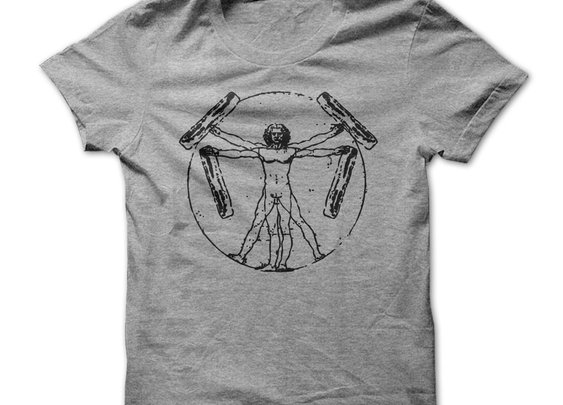 Vitruvian Bacon Man Tshirt - Perfect Pork-portions
