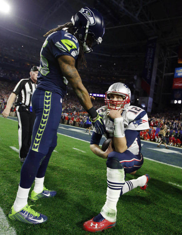 Sherman/Brady defining photo of Super Bowl XLIX | Shutdown Corner - Yahoo Sports