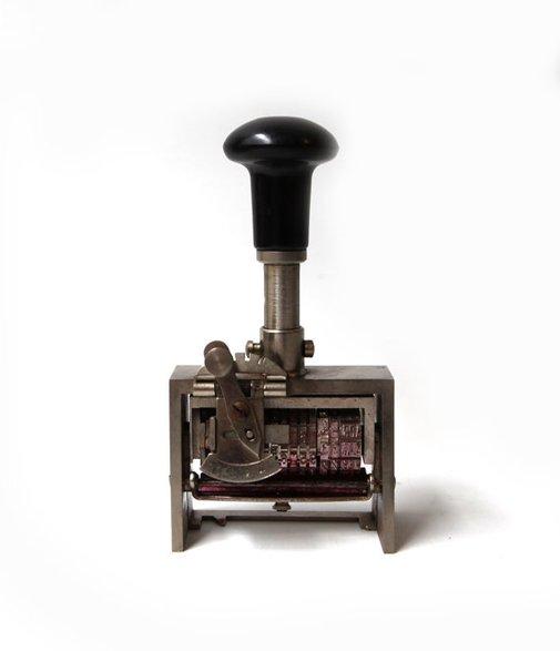 Vintage heavy German office date numbering machine by evaelena