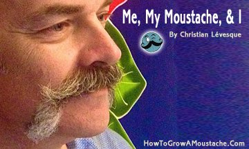 Me, My Moustache, and I | How to Grow a Moustache