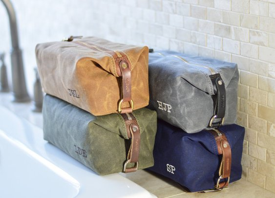 American made dopp kits, perfect for groomsmen gifts