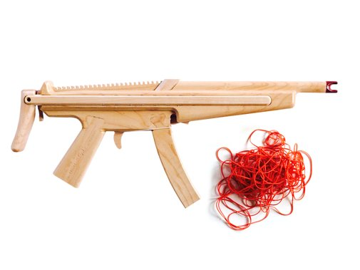 Beautiful Wooden Semi-Automatic Rubber Band Guns Crafted by Hand