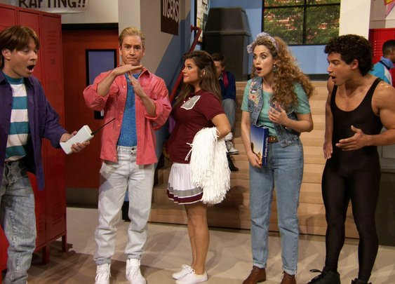 "Jimmy Fallon Went to Bayside High with ""Saved By The Bell"" Cast - YouTube"
