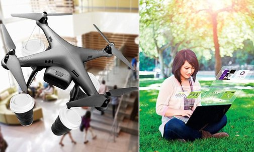 Coffee to be delivered by drones in 25 years, futuristic reports says | Daily Mail Online