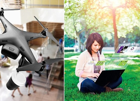 Coffee to be delivered by drones in 25 years, futuristic reports says   Daily Mail Online