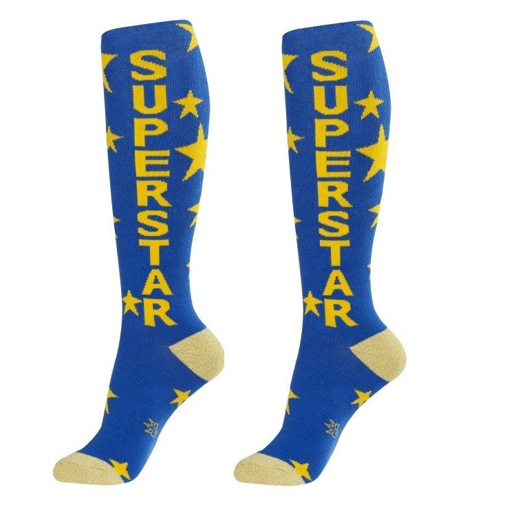 Superstar Unisex Dress Socks - Whimsical & Unique Gift Ideas for the Coolest Gift Givers
