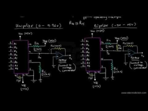 DAC 1408A CHIP | Hardware Pin Diagram | Electrodiction Full Funda - YouTube
