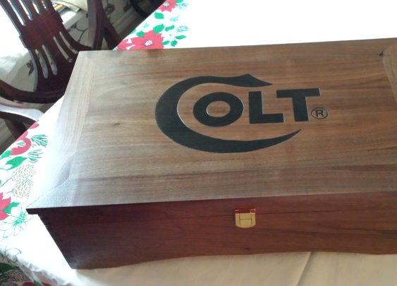 Custom made wood boxes for pistols