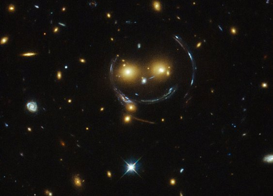 Hovering happy face smiles down on us from space - space - 10 February 2015 - New Scientist