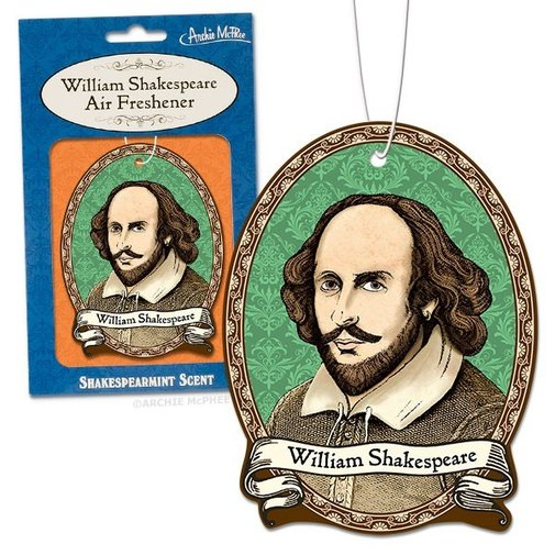William Shakespeare Deluxe Air Freshener - Whimsical & Unique Gift Ideas for the Coolest Gift Givers
