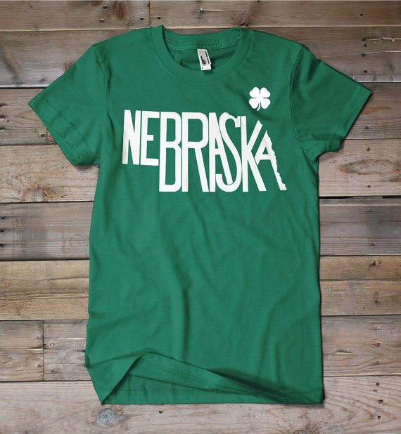 Nebraska St. Patrick's Day Shirt by TheStatelyShirtCo on Etsy