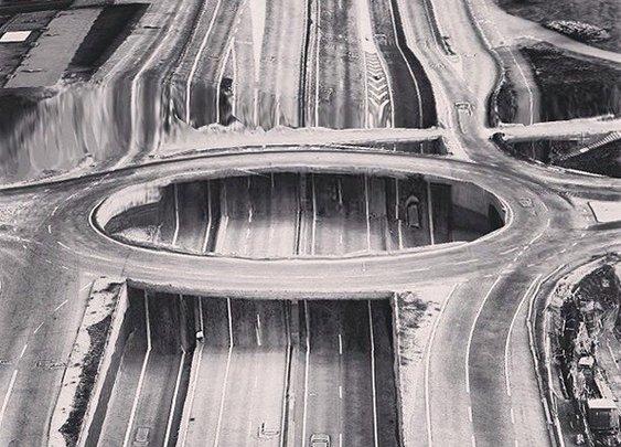 Google Earth Glitches: Dystopian Parallel Universe