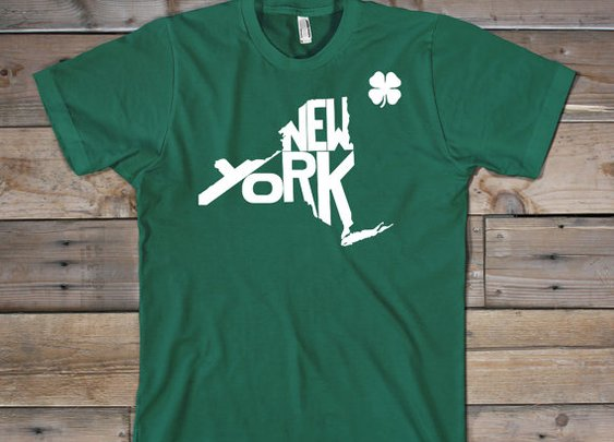 New York St. Patrick's Day Shirt by TheStatelyShirtCo on Etsy