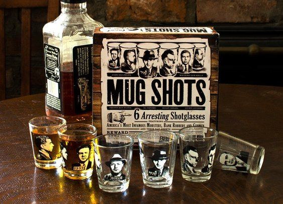 Mug Shots - Famous Gangster Shot Glasses - Whimsical & Unique Gift Ideas for the Coolest Gift Givers