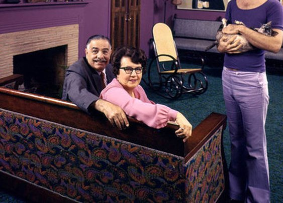 Photos Of Rock Stars And Their Parents - Frank Zappa With His Parents, Rosemary & Francis