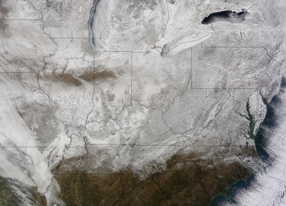 Eastern U.S. record breaking cold and snow as seen from space | Watts Up With That?