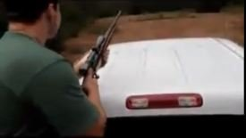 Guy Shoots The Roof Of His Truck: AimFail