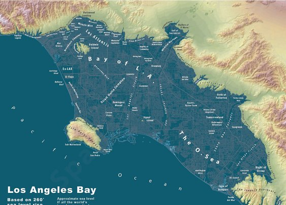 If all of the world's glaciers and ice caps melted… what would LA look like?
