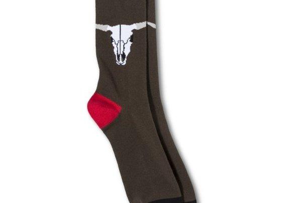 Men's Bull Skull Socks : Target