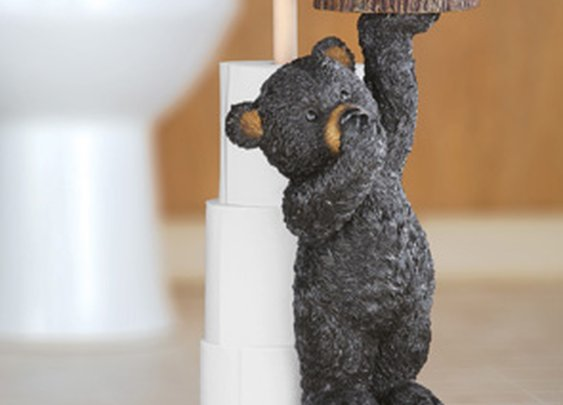 Northwoods Bear Toilet Paper Holder from Collections Etc.