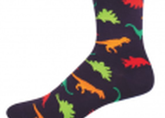 Dinosaur Style Men's Novelty Comfort Crew Socks - Cotton/lycra/nylon