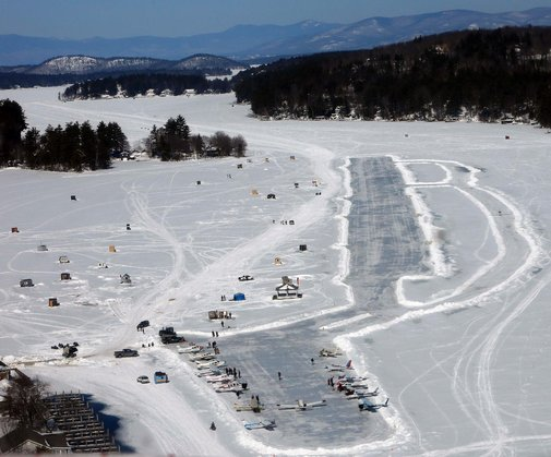 New Hampshire Lake Is Lower 48's Only Ice Runway - US News