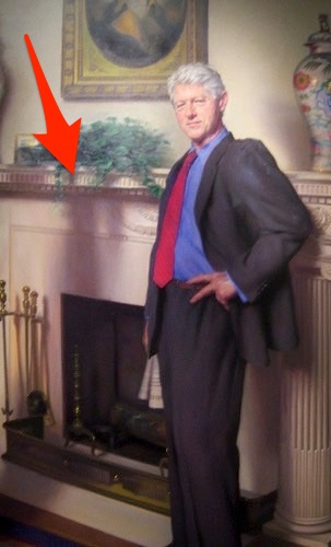 Hidden reference to Lewinsky scandal in Clinton portrait - Yahoo News