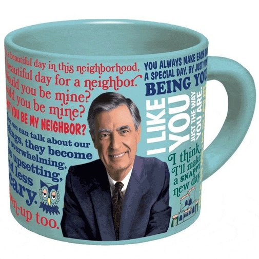 Mister Rogers Mug - His Sweater Changes When Hot Water is Added!