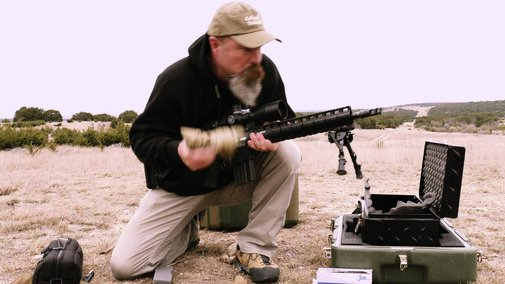 Airplane-Dropped Rifle Shoots Down Drone