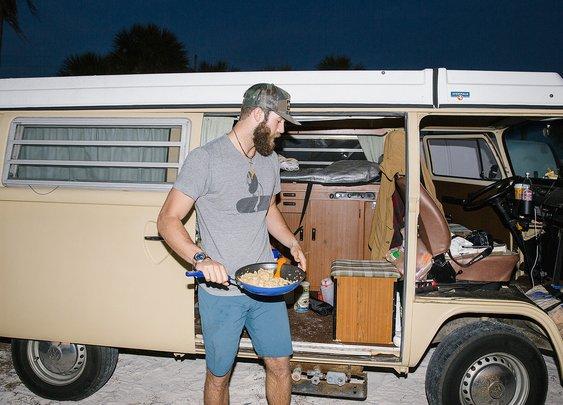 Daniel Norris living in a van down by the river